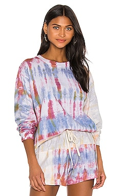 Reconstructed Long Sleeve Tie Dye Tee JOHN ELLIOTT $139