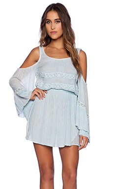 Jen's Pirate Booty Baudelaire Mini Dress in Light Sky Blue