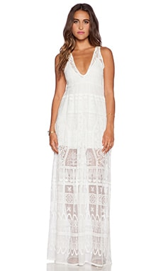 Jen's Pirate Booty Ile De France Maxi Dress in Wilderness White