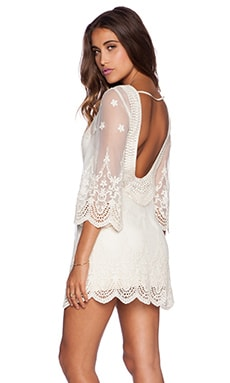 La Vie En Rose Mini Dress in Celestial Natural
