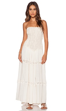 Jen's Pirate Booty Cherokee Rose Maxi Dress in Natural