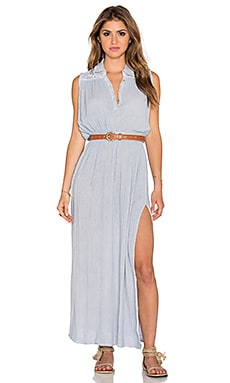 Jen's Pirate Booty Evita Maxi Dress in Haze Grey