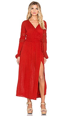 Jen's Pirate Booty Caravan Wrap Dress in Red