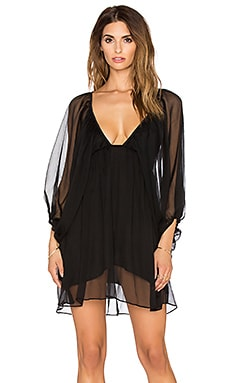 Jen's Pirate Booty Silk Sunflower Mini Dress in Black