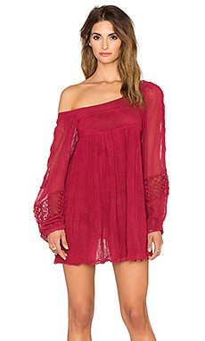 Jen's Pirate Booty Dandelion Mini Dress in Deep Red