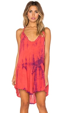 Faith Dress in Coral & Orchid Fold Tie Dye