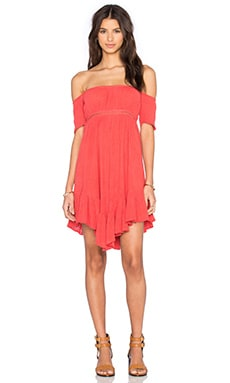 Jen's Pirate Booty Ruffle Salem Dress in Coral