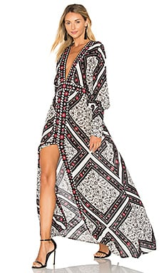 Flamenco Maxi Dress en Spanish Tile