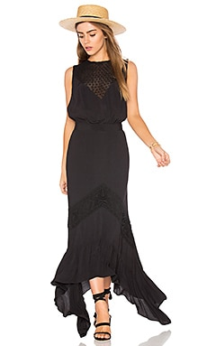 Sagrada Rising Sun Dress in Black
