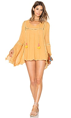 Biscay Tunic in Gold & Orange Tassels