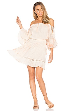Abundnace Mini Dress in Clay Fold Tie Dye & Bleached Tassels