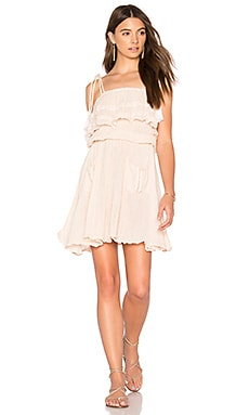 Nala Dress in Summer Quartz & Bleached Tassels