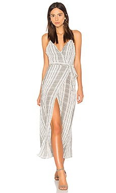 Stripe Jana Wrap Dress