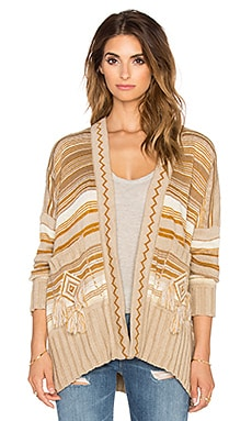 Jen's Pirate Booty Shaman Cardigan in Gold Rush
