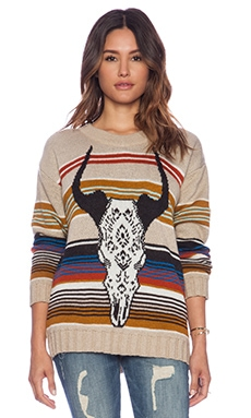Jen's Pirate Booty Desert Queen Sweater in Desert Cow Skull