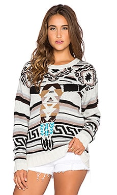 Jen's Pirate Booty Sitting Bull Sweater in Black Serape