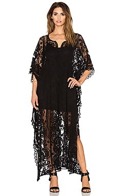 Jen's Pirate Booty Wanderlust Mykonos Kaftan in Black