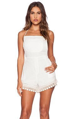 Jen's Pirate Booty Roux Romper in Swiss White