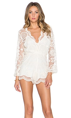 Jen's Pirate Booty Wanderlust Lace Ara Playsuit in Natural