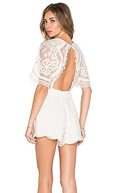 Jen's Pirate Booty Wanderlust Lace Leyla Romper in Natural