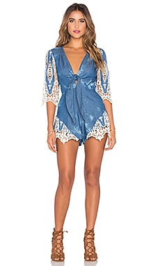 Forget Me Not Romper in Wildwood