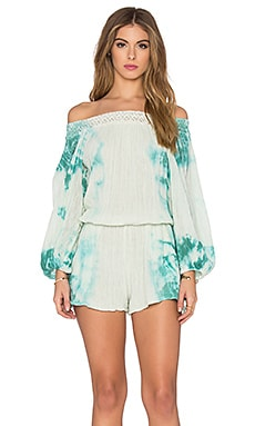 Sunkissed Romper in Aloe & Teal HED