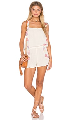 Jen's Pirate Booty Willow Romper in Natural & Daisy Chain