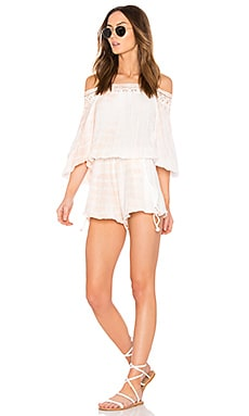 Criss Cross Sunkissed Playsuit in Summer Quartz Lightening Tie Dye