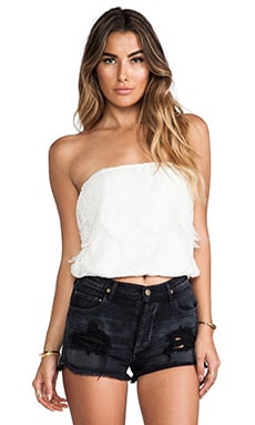 Ethereal Cha Cha Tube Top en Sable blanc