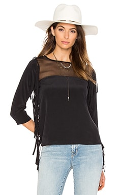 Silk Banshee Top in Black