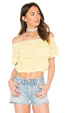 Flame Lily Top in Maiz