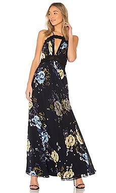 Вечернее платье lace trim - JILL JILL STUART, В цветочек, Китай, Черный  - купить со скидкой