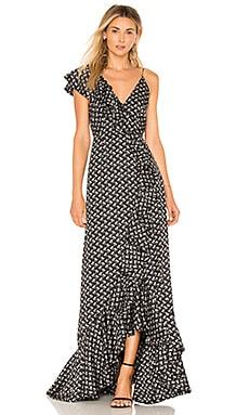 Купить Платье - JILL JILL STUART, В цветочек, Китай, Черный