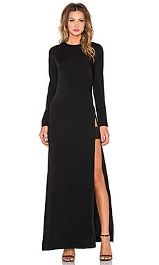JILL JILL STUART Long Sleeve Maxi Dress in Black