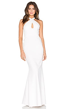 Keyhole Gown in Off White