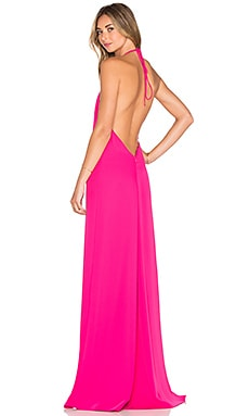 Halter Gown in Peony