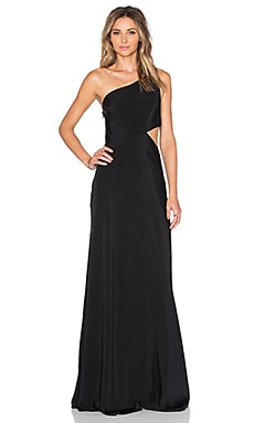 JILL JILL STUART One Shoulder Gown in Black