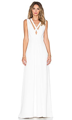 Cross Front Gown in Off White