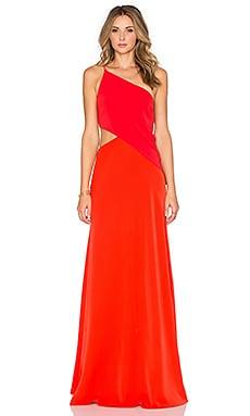 JILL JILL STUART Contrast Gown in Poppy & Tangerine
