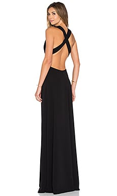 JILL JILL STUART Deep V Gown in Black