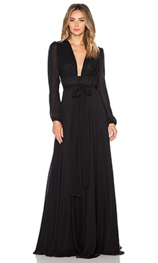 JILL JILL STUART Deep V Maxi Dress in Black