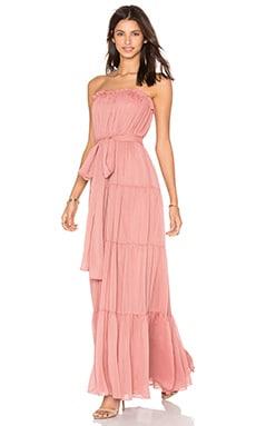 JILL JILL STUART Strapless Chiffon Gown in Desert Rose