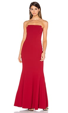 JILL JILL STUART Strapless Gown in Redwood