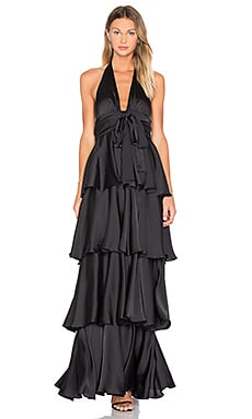 JILL JILL STUART Layered Stain Gown in Black