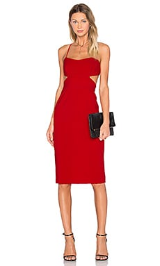 JILL JILL STUART Cutout Midi Dress in Apple Red