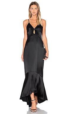 JILL JILL STUART Layered Satin Gown in Black