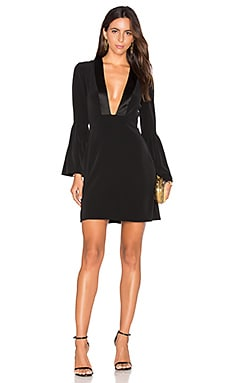 Plunging V Neck Mini Dress