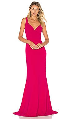 Sleeveless Gown in Wild Rose