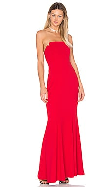 Strapless Gown in Cherry Red