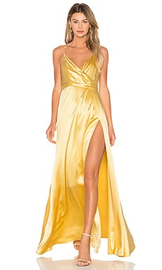 Wrap Gown in Buttercup